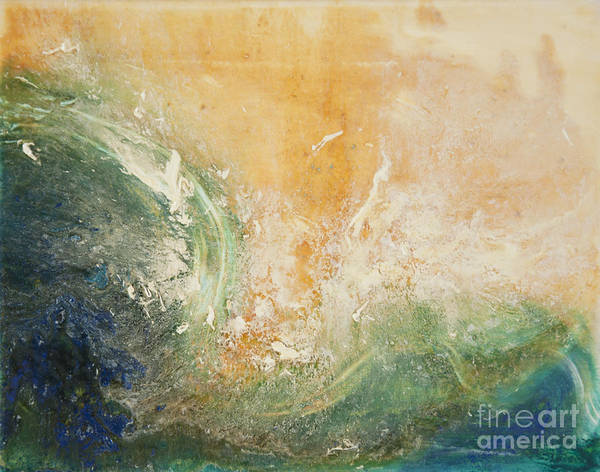 Painting - Rugged Coast Aerial View by Shelley Myers
