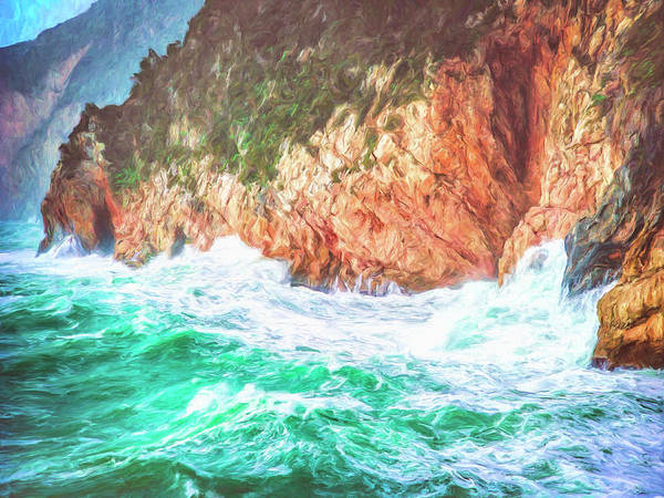 Painting - Rugged Coastline At Big Sur by Dominic Piperata