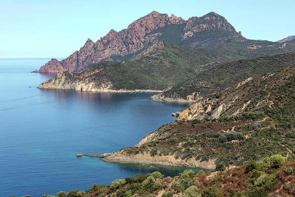 Calvi Photograph - rugged coastline La Scandola - Corsica by Joana Kruse