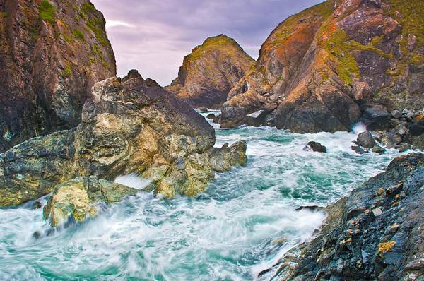 Painting - Rugged Cornish Rocks by Cornish Scenes