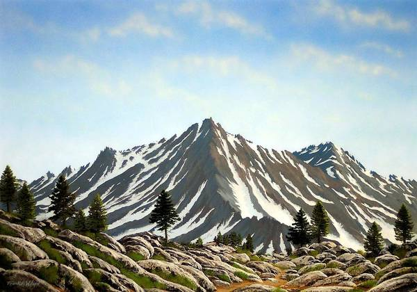 Painting - Rugged Peaks by Frank Wilson