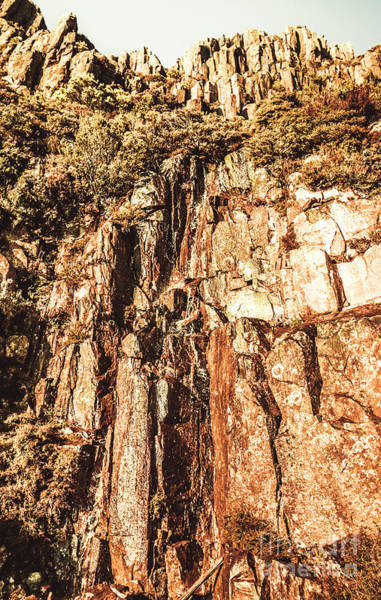 Rock Formation Photograph - Rugged Vertical Cliff Face by Jorgo Photography - Wall Art Gallery