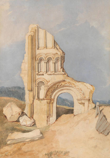 Painting - Ruin Of A Norman Church by John Sell Cotman