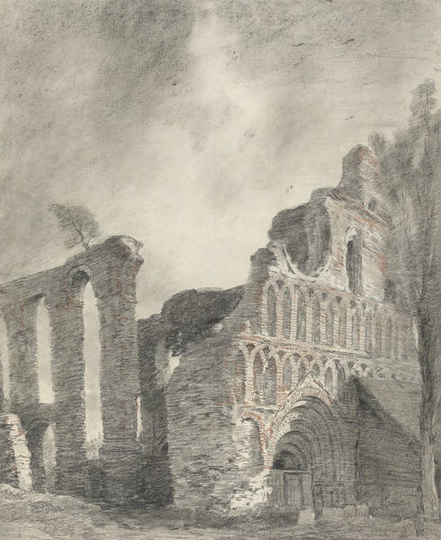 Drawing - Ruin Of St Botolph's Priory by John Constable
