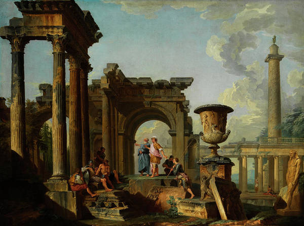 Collapse Painting - Ruinen Capriccio by Giovanni Paolo Panini