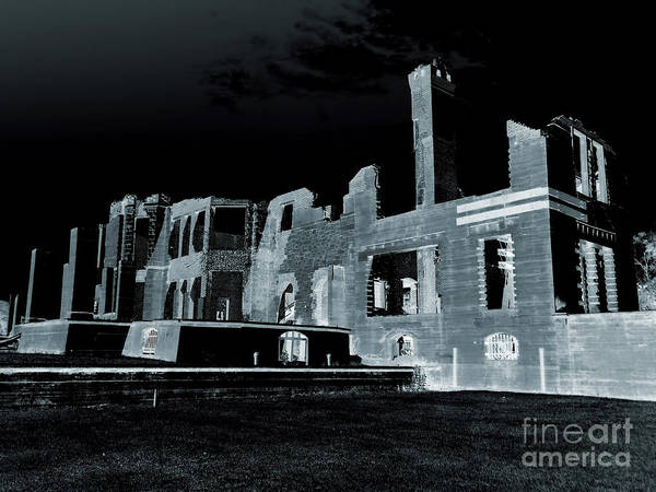 Photograph - Ruins At Night by D Hackett