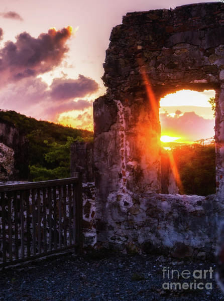 Photograph - Ruins At Sunset by Julia Rigler
