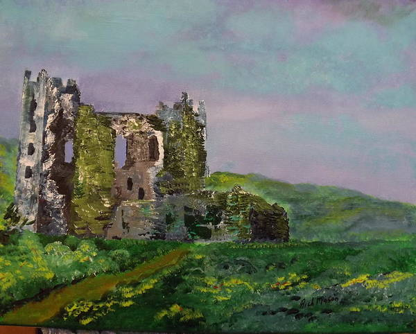 Wall Art - Painting - Ruins Of Billy Carberry Castle by Rich Mason