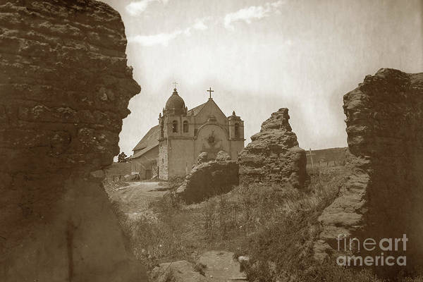 Photograph - Ruins Of Carmel Mission And Mission Church Circa 1905 by California Views Archives Mr Pat Hathaway Archives