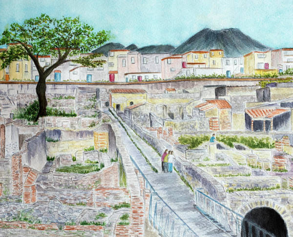 Buried Painting - Ruins Of  Herculaneum by Laura Richards