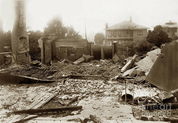 Photograph - Ruins Of Houes After The Fire Of  September 18, 1923 by California Views Archives Mr Pat Hathaway Archives
