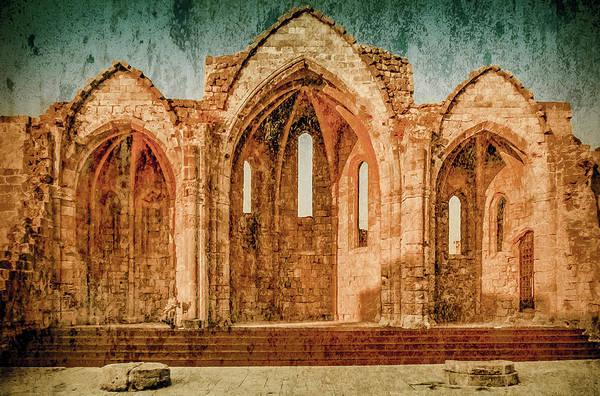 Photograph - Rhodes, Greece - Ruins Of Saint-marie-du-bourg by Mark Forte