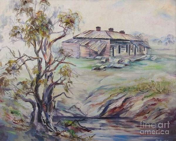 Painting -  Ruins Of Squatter's Arms Inn, Cookardinia. 2 Of Pair. by Ryn Shell