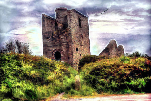 Digital Art - Ruins Of The Old Tin Mine by Pennie McCracken
