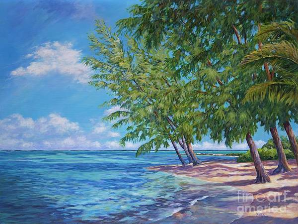 Wall Art - Painting - Rum Point by John Clark