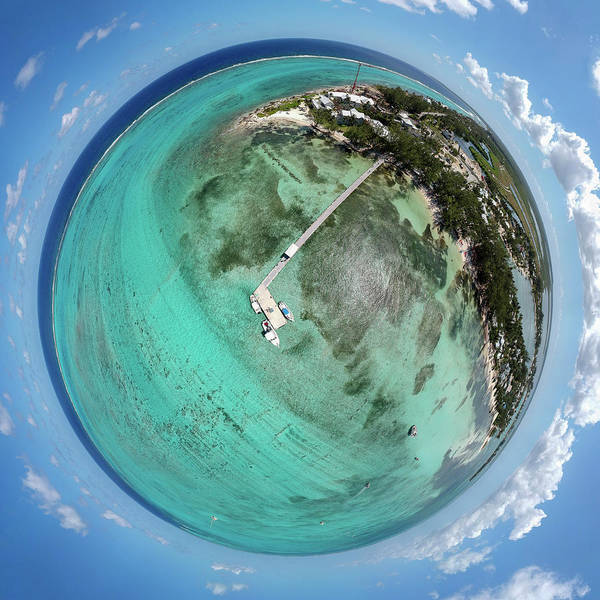 Photograph - Rum Point Little Planet by Adam Romanowicz