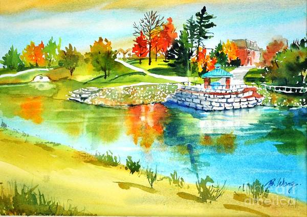 Painting - Rumble Pond Park by Betty M M   Wong
