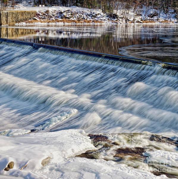 Photograph - Rumford Falls, Rumford, Maine  88220-sq by John Bald