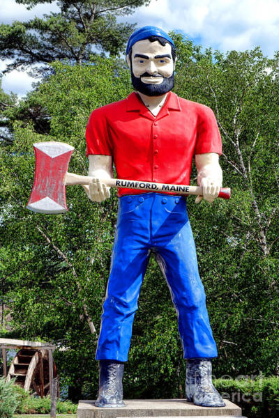 Photograph - Rumford Paul Bunyan  by Olivier Le Queinec