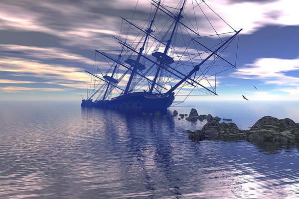 Shipwreck Digital Art - Run Aground by Claude McCoy