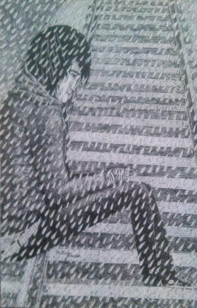 Miserable Drawing - Run-away by Melinda Johnston