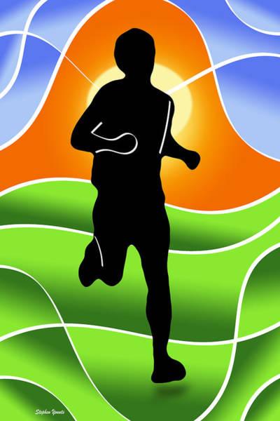 Running Digital Art - Run by Stephen Younts