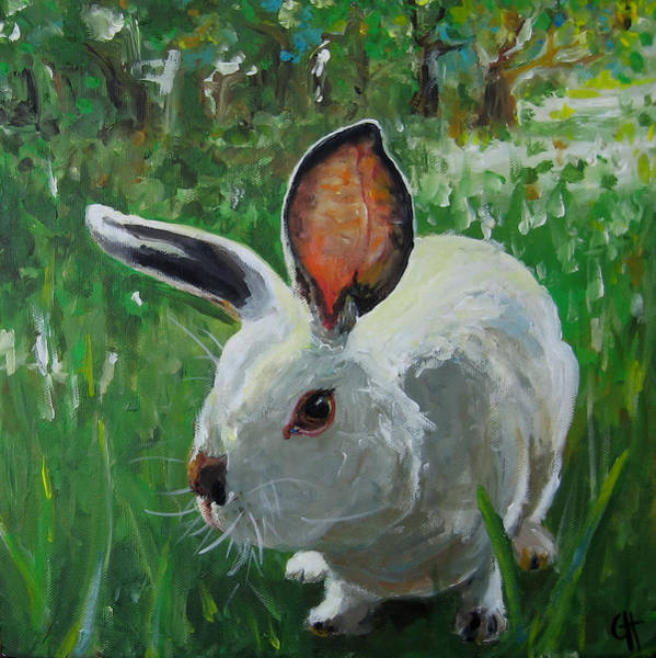 Wall Art - Painting - Runaway Bunny by Cari Humphry