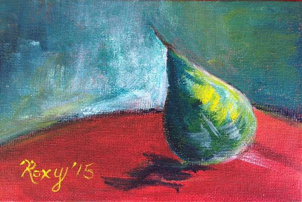 Impressionism Painting - Runaway Pear by Roxy Rich