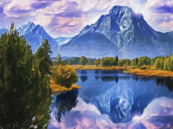 Wall Art - Painting - Rundle Mountain by Wayne Bonney