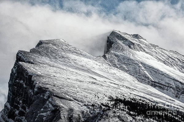 Photograph - Rundle Peaks by Brad Allen Fine Art
