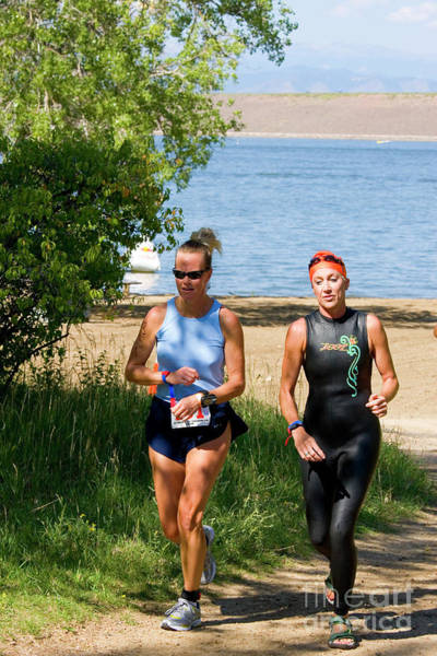 Photograph - Runners At The 24 Hours Of Triathlon by Steve Krull