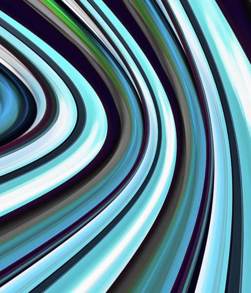Digital Art - Running Blue by Wendy J St Christopher