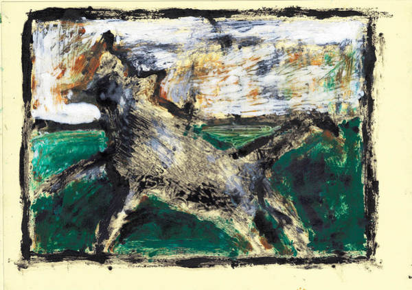 Painting - Running Dog 1 by Artist Dot