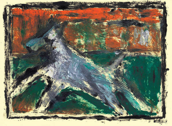 Painting - Running Dog 3 by Artist Dot