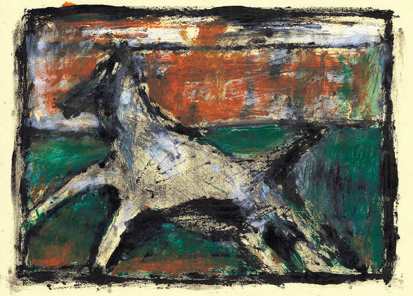 Painting - Running Dog 4 by Artist Dot