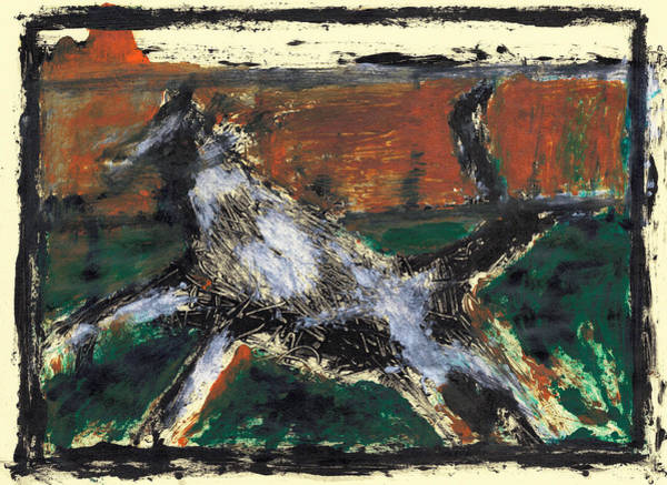 Painting - Running Dog 8 by Artist Dot