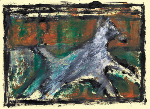 Painting - Running Dog  Version 2 by Artist Dot