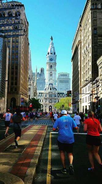 Broad Street Run Photograph - Running Down Broad by Adam Milsted