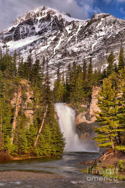 Photograph - Running Eagle Falls At Two Medicine by Adam Jewell