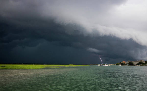 Shelf Cloud Photograph - Running From A Storm by Paige Brown
