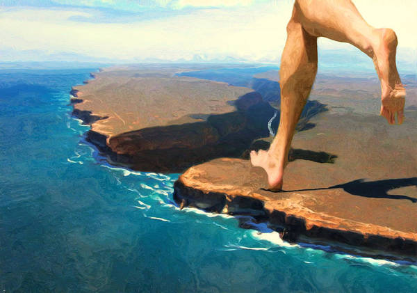 Barefoot Wall Art - Photograph - Running On The Edge by Jack Zulli