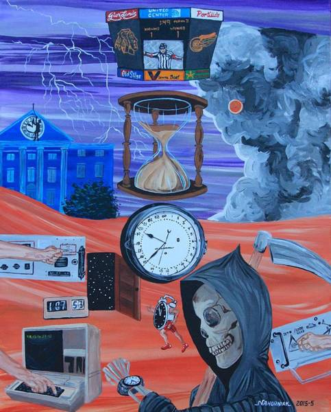 Back Door Painting - Running Out Of Time by Mike Nahorniak