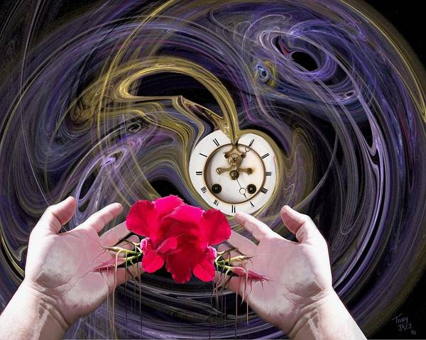 Digital Art - Running Out Of Time by Tony Rodriguez