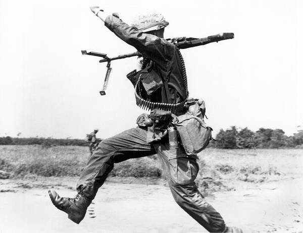 Photograph - Running Soldier by Underwood Archives