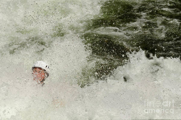 Photograph - Running Through Rapids by Les Palenik