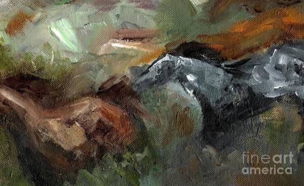In Motion Painting - Running Through  Sage by Frances Marino