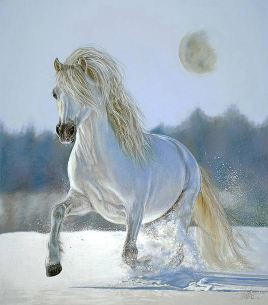 Painting - Running With The Moon by Terry Kirkland Cook