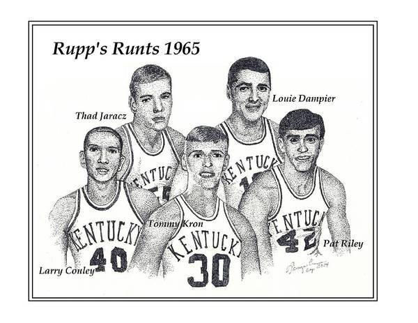 Nba Drawing - Rupp's Runts by Tanya Crum