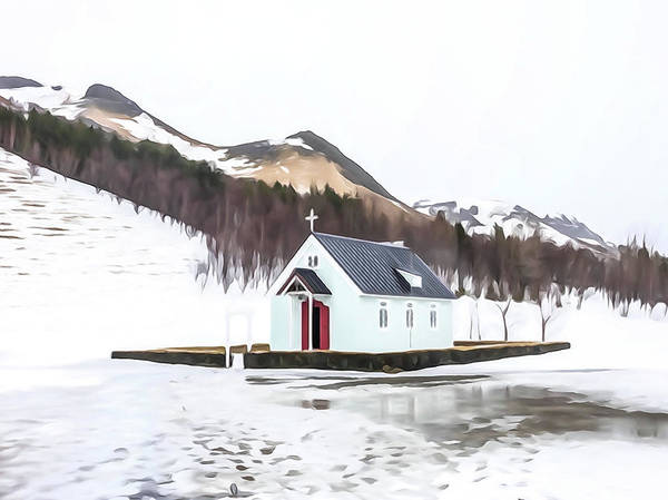Photograph - Rural Church In Iceland by Tom and Pat Cory