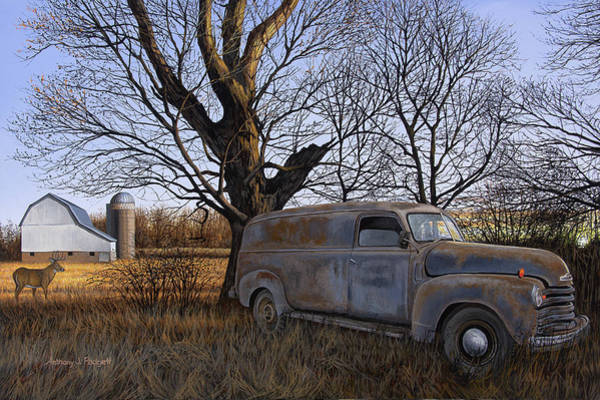 Painting - Rural Delivery by Anthony J Padgett